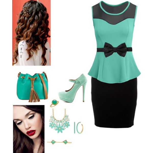 """Today"" by clothesforyouandme on Polyvore #IceCarats http://www.icecarats.com/Sterling-Silver-10.00-Mm;P;Genuine-Chrysoprase-Ring-247182.aspx"