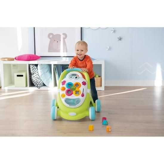 Smoby Cotoons Trotteur Pour Enfant 2 En 1 Mixte Enfant Trotteur Porte Miroir