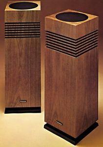 Rare Panasonic Sb 636 Speakers Floor Standing