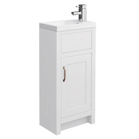 Bathroom Cabinets 400mm Wide chatsworth traditional white small vanity - 400mm wide | bathroom