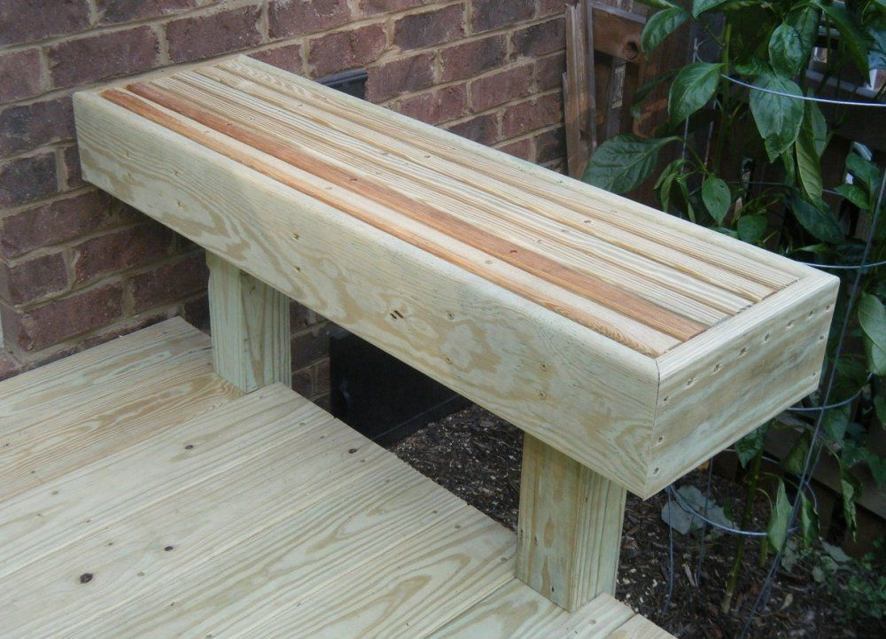 Here S A Simple Deck Bench With No Backrest Decking