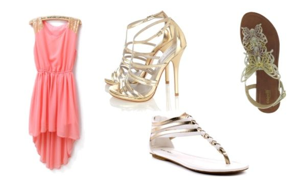 shoes to go with peach dress