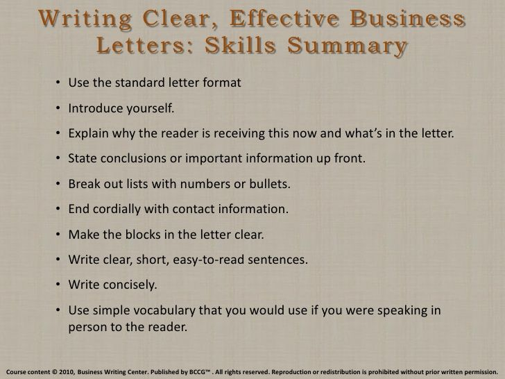 writing clear effective business letters skills summary mastering