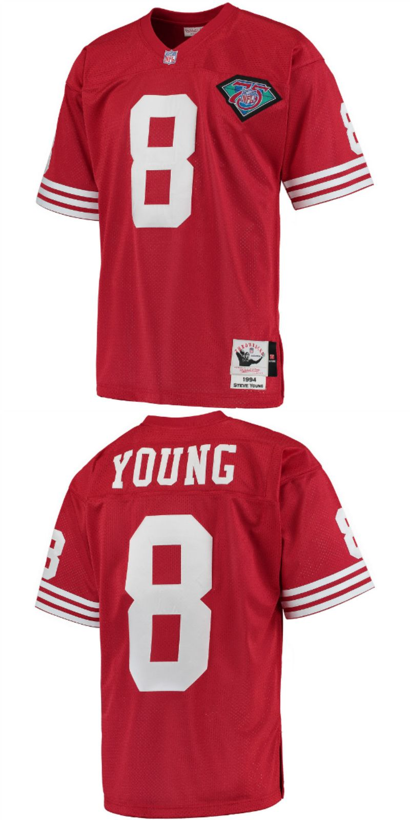 info for c5c90 0f635 UP TO 70% OFF. Steve Young San Francisco 49ers Mitchell ...