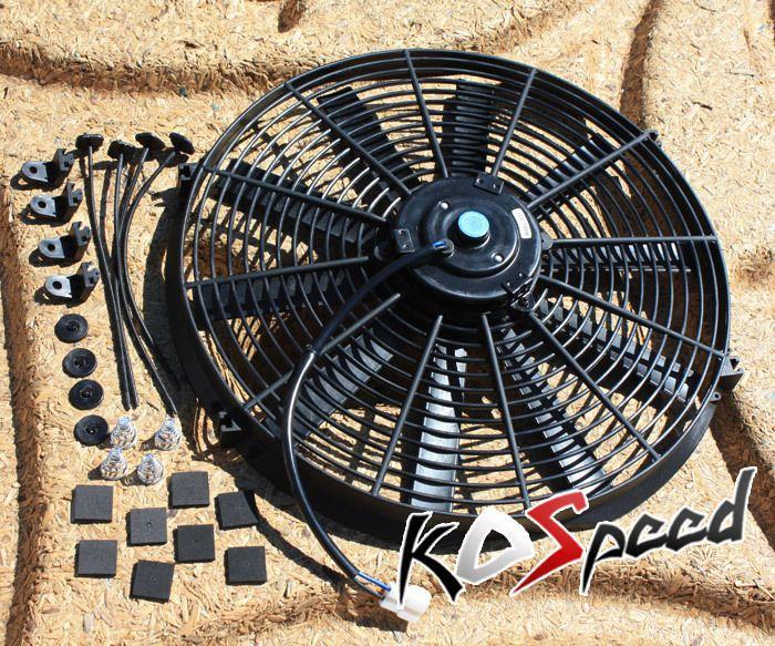 Universal Black 14 12v Electric Radiator Engine Cooling Fan