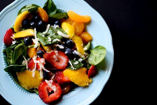 Summer salad with mandarin vinaigrette
