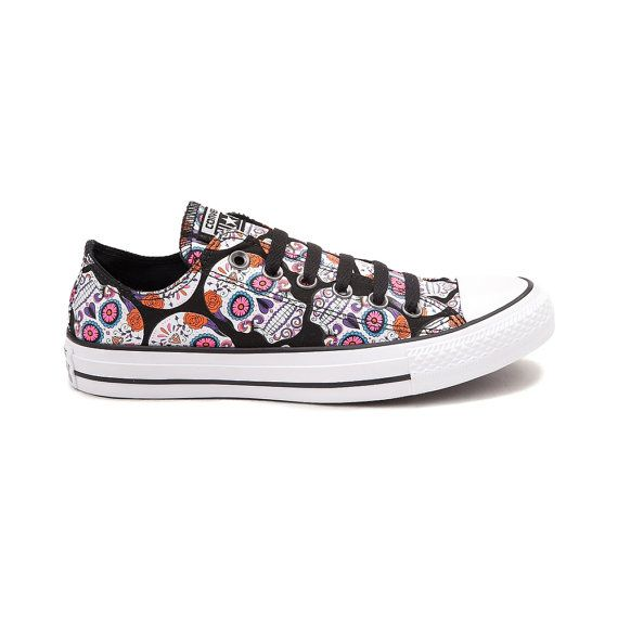 318e40f9306 Converse Low Black Pink Sugar Skull Custom Kicks Classic Jeweled w   Swarovski Crystal Rhinestone Bling Chuck Taylor All Star Sneakers Shoe
