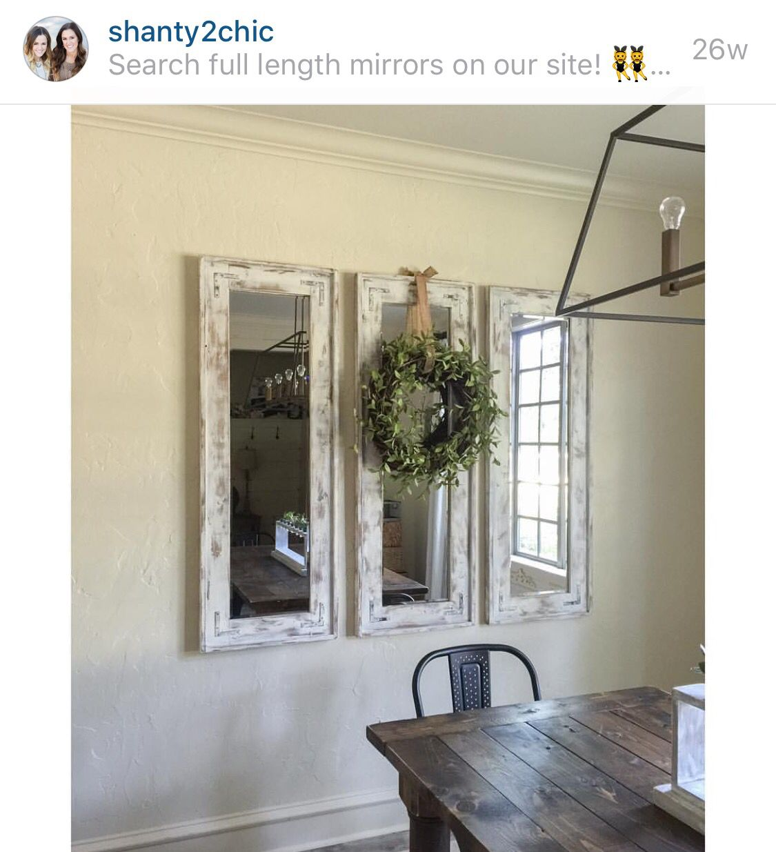 Love these mirrors by shanty 2 chic DIY Pinterest Room