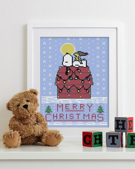 BUY 2 patterns and GET 1 FREE Peanuts in Christmas by eXehandmade