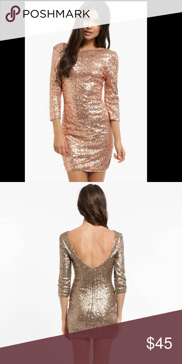 e329f98a3fbd NWOT Toni rose gold sparkler sequin dress Brand nwot. Never worn. Toni sparkler  sequin dress in rose gold. No defects, by the time New Years came around it  ...