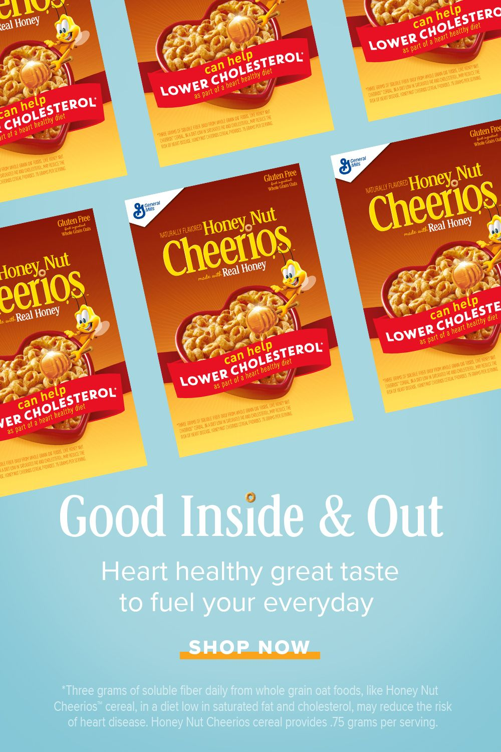 Grab a box of Honey Nut Cheerios and live out loud with a happy heart! is part of information-technology - information-technology