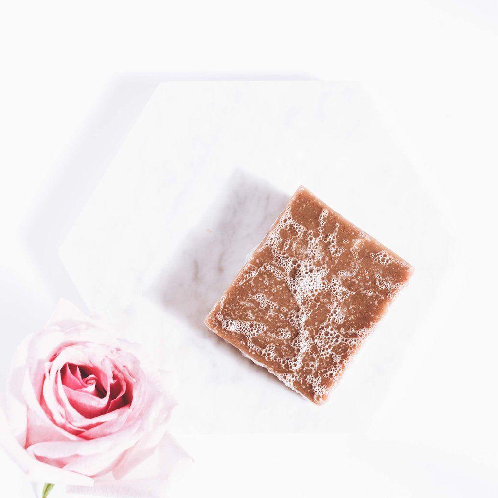 vegan aloe and rose pink clay bar soap | apoterra skincare