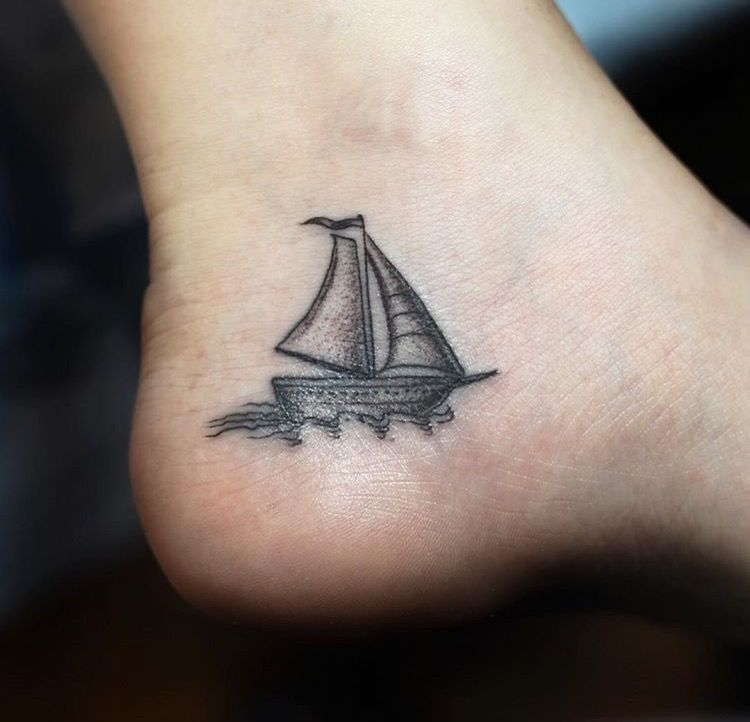 6aa60c272 Small ship tattoo...for the song Heroes by Amanda Cook | Ink | Feet ...