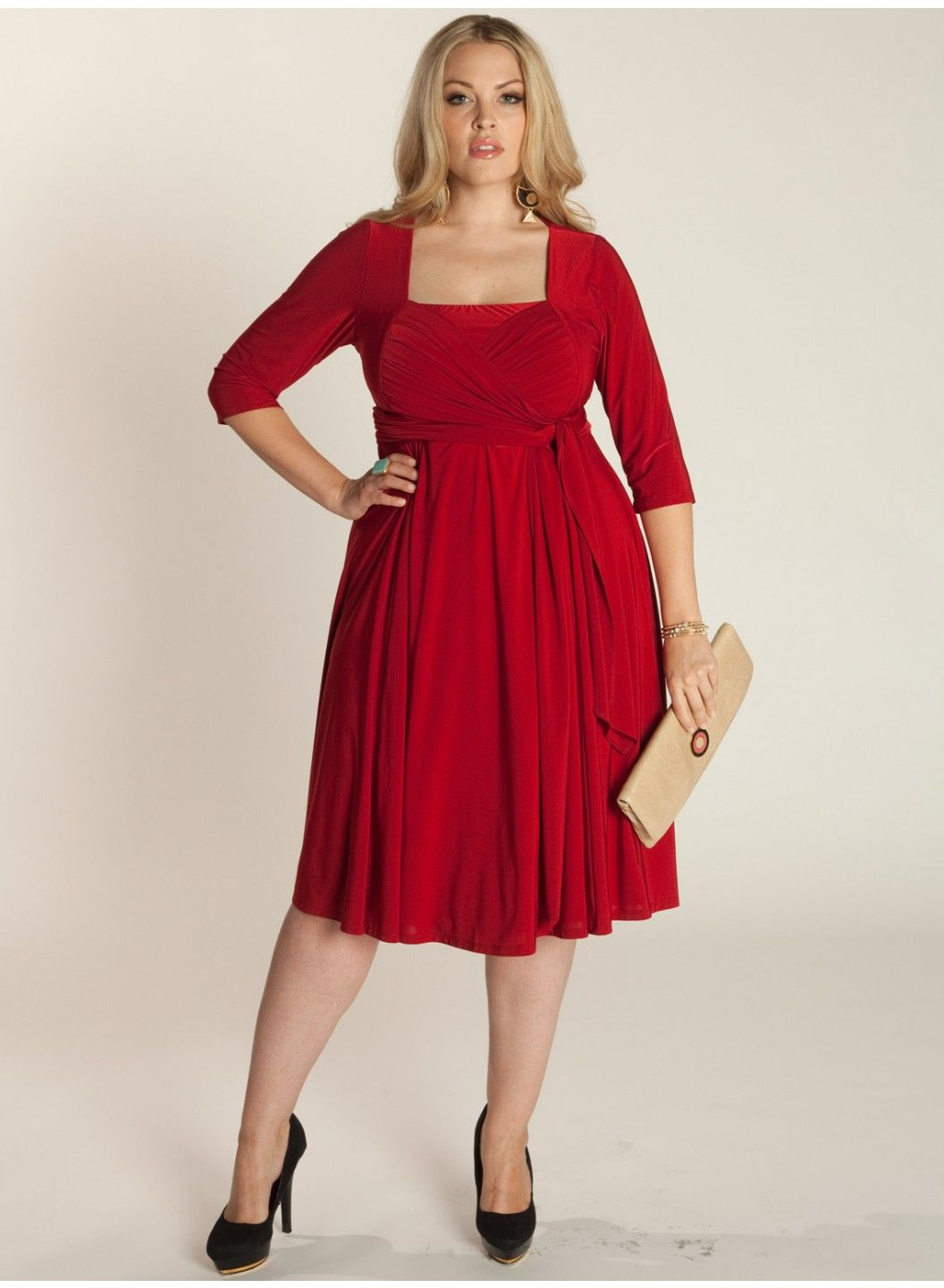 Sexy Red Curve Skimming dress of #IGIGI_Ninelle made for #pluzsize. $120.00