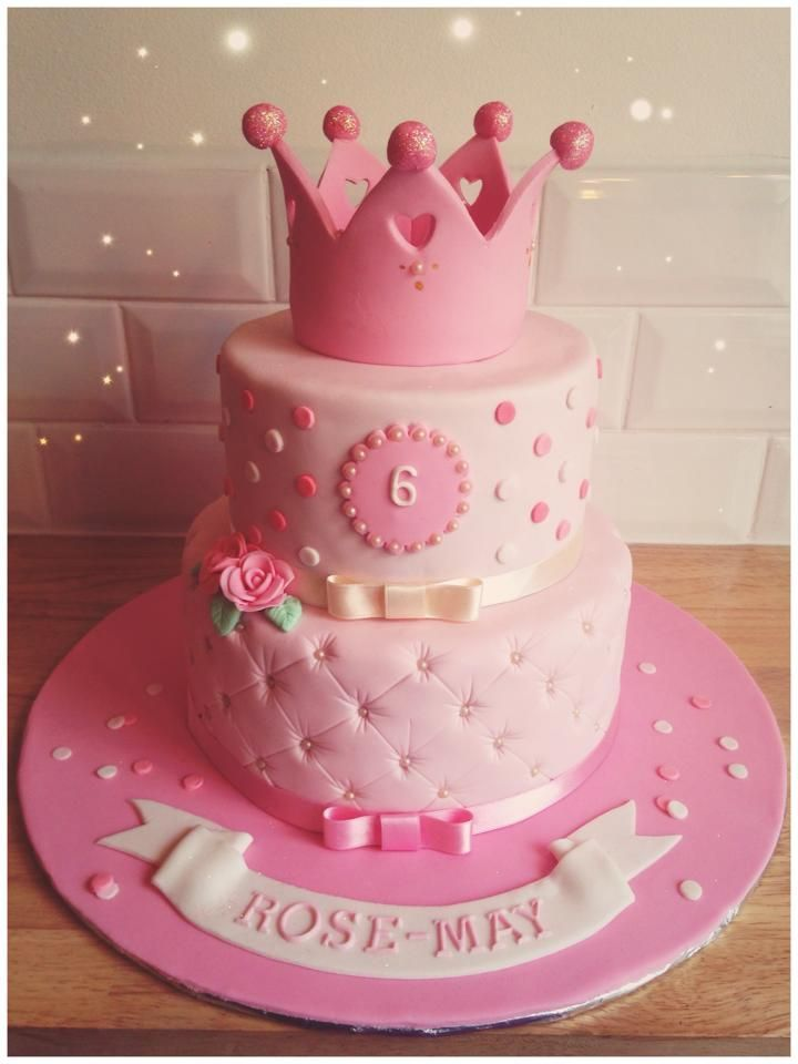 Princess Cake For 6 Year Old Girl Princess Birthday Cake Girl