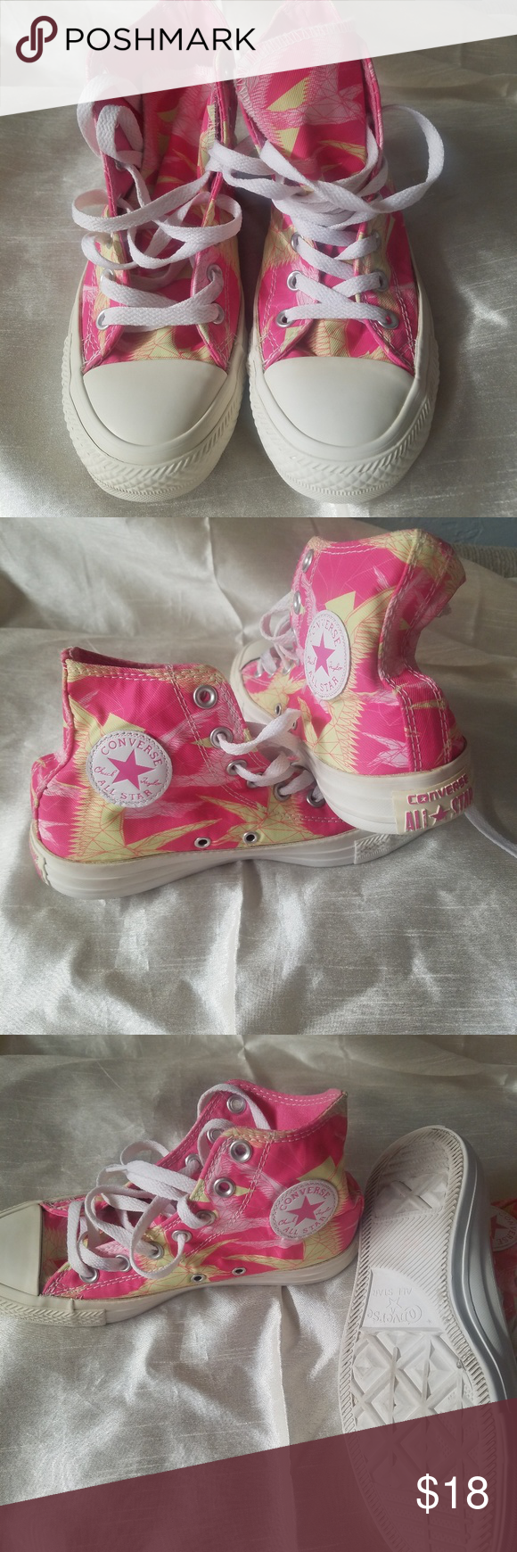 Pink Converse Size6 Nice Shoes In Good Condition You Will Love Very Clean Size 6