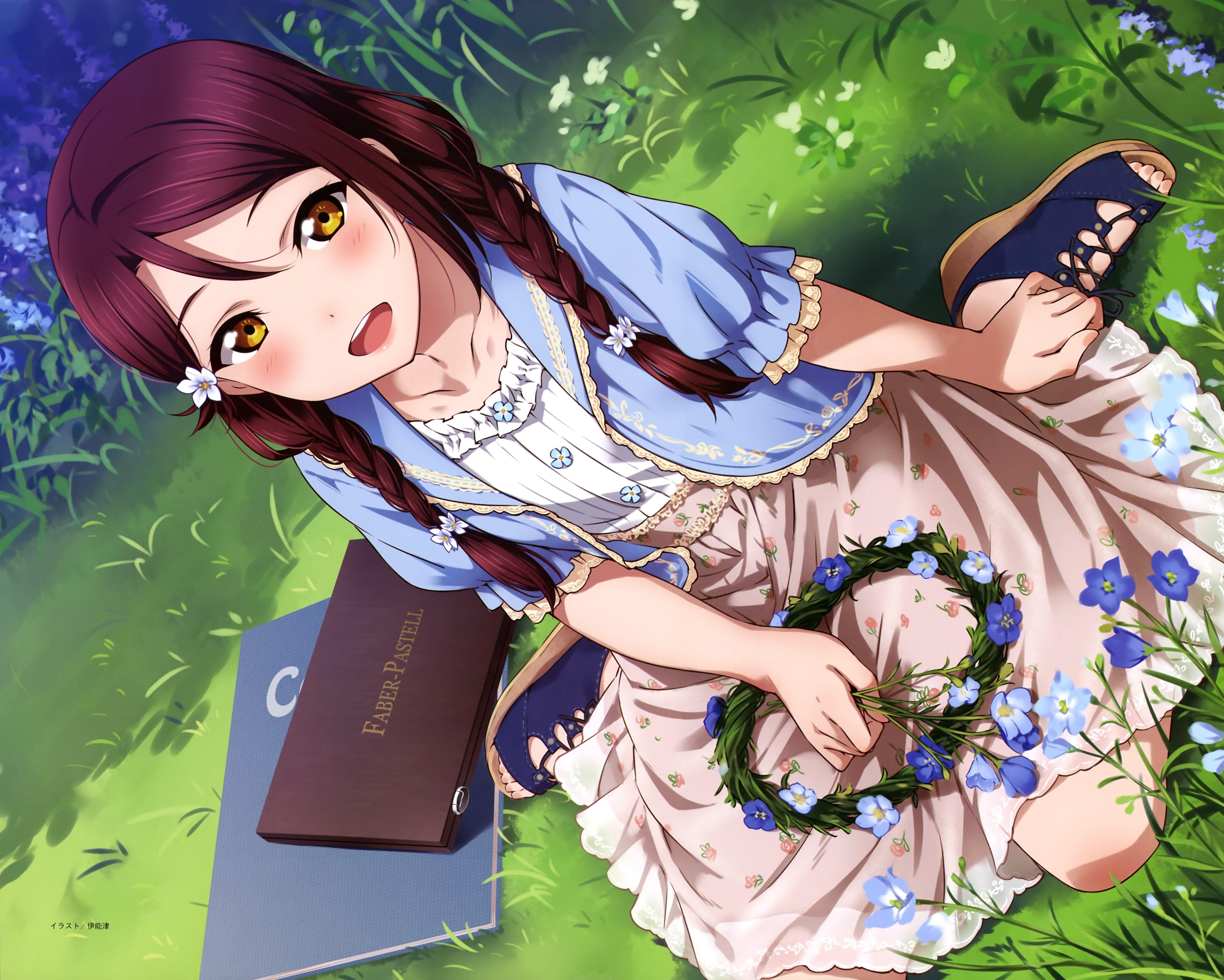 Anime Love Live Sunshine Riko Sakurauchi 4k Wallpaper Hdwallpaper Desktop Anime Kawaii Anime Anime Love