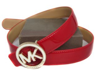 """Oh so nice!  Michael Kors Patent Red Leather Belt.  Would really """"pop"""" your outfit."""