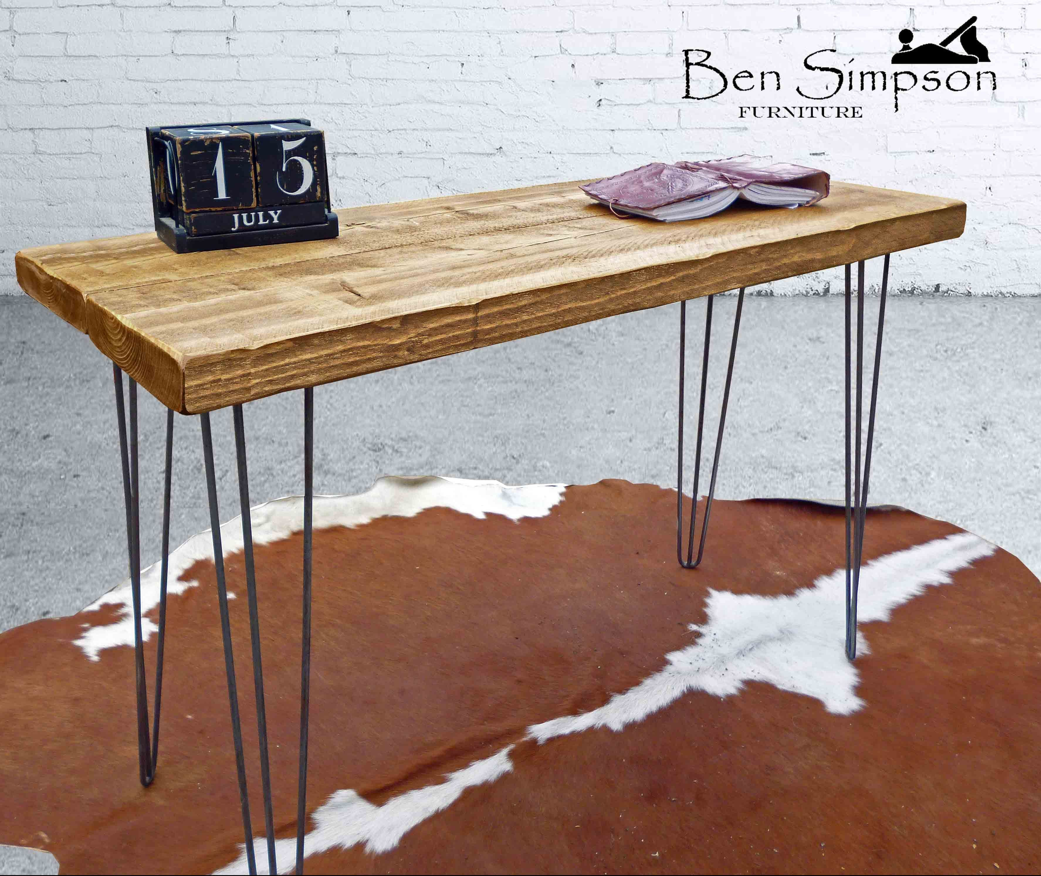 Rustic hairpin desk industrial dressing table ben simpson furniture