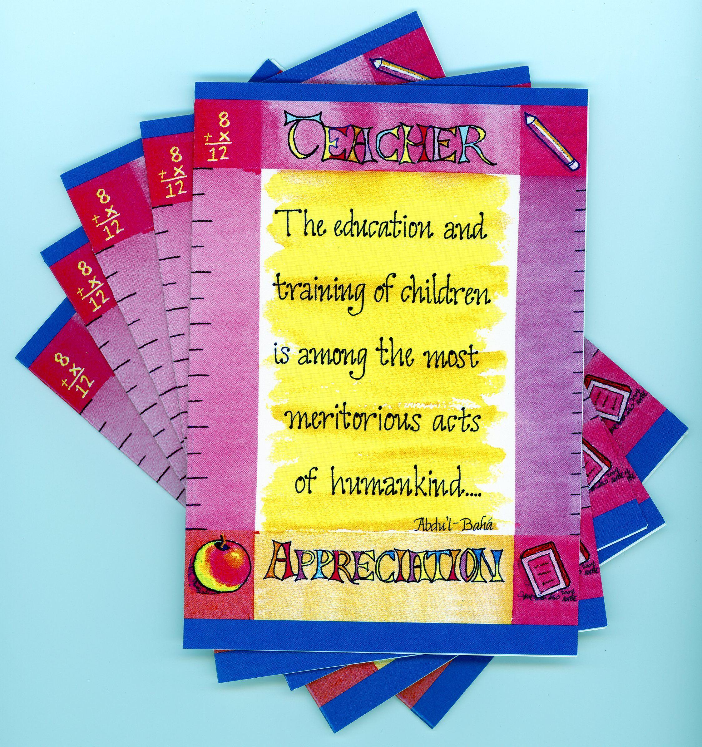 teacher appreciation greeting card appreciation card ideas