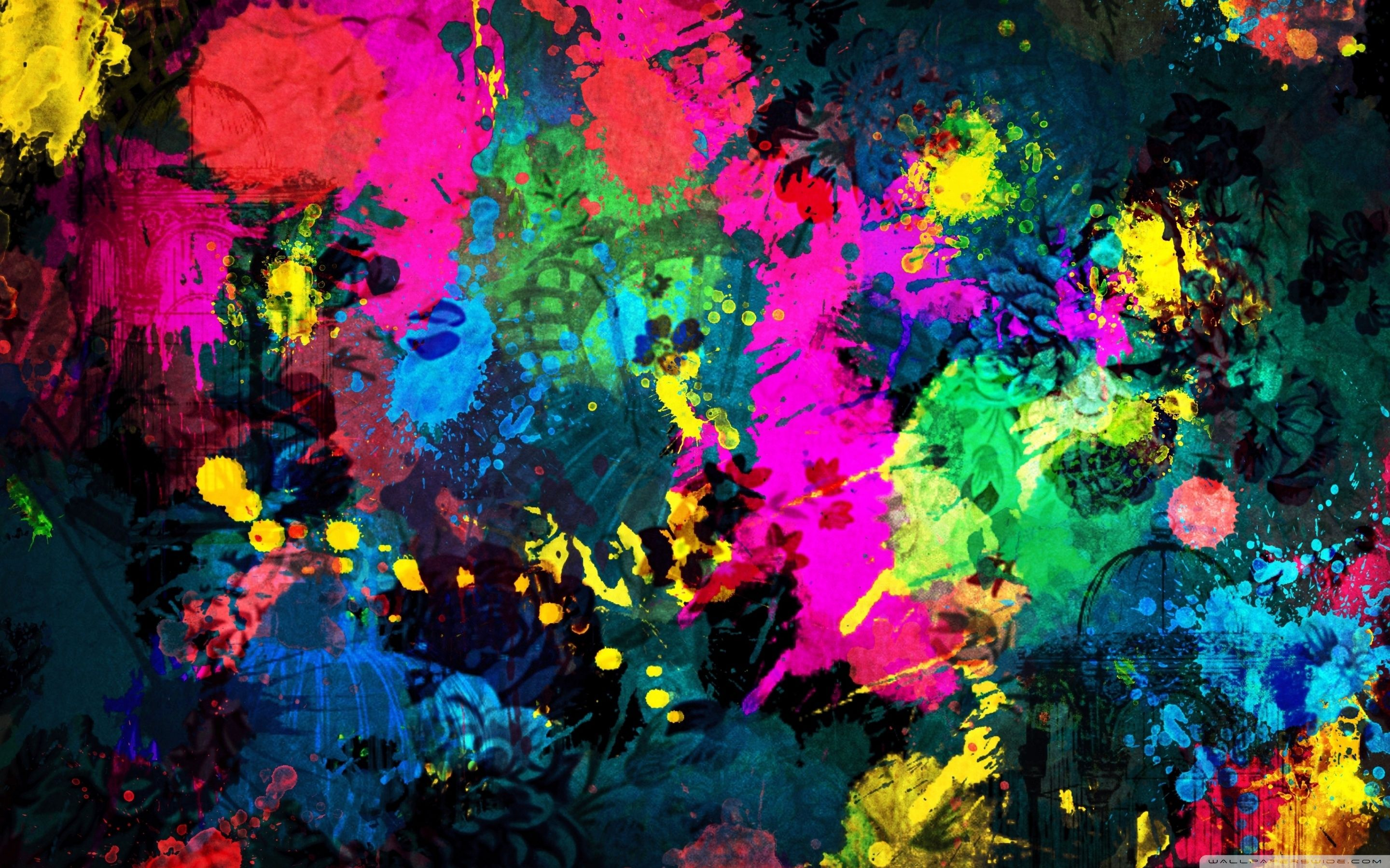 Colorful Paint Splatter Background Hd Pictures Abstract Art