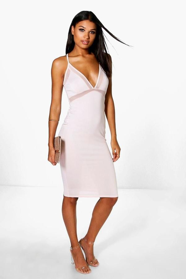 af968f00d10b Ariane Mesh Strappy Midi Bodycon Dress   Products   Pinterest   Products