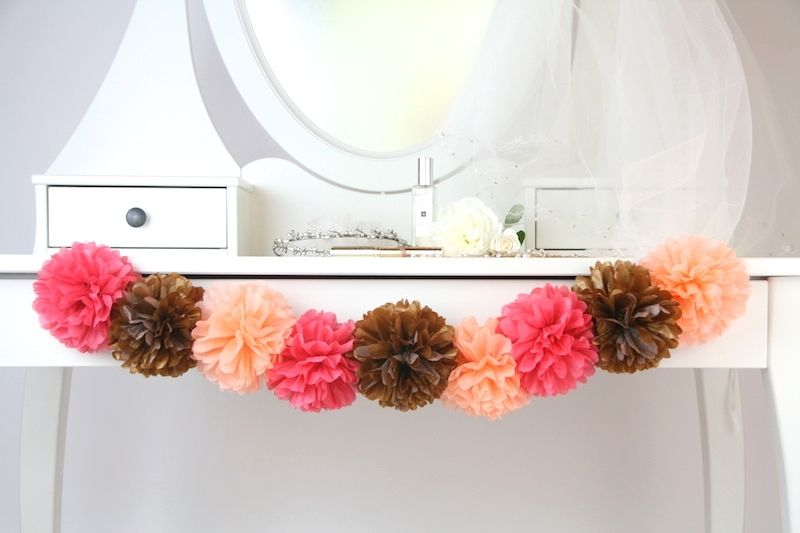 Pom Pom Manufaktur pompom girlande glam wedding diy design