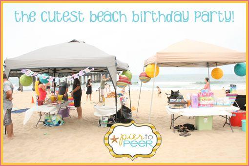 A Beach Theme Birthday Party Beach Birthday Beach Birthday