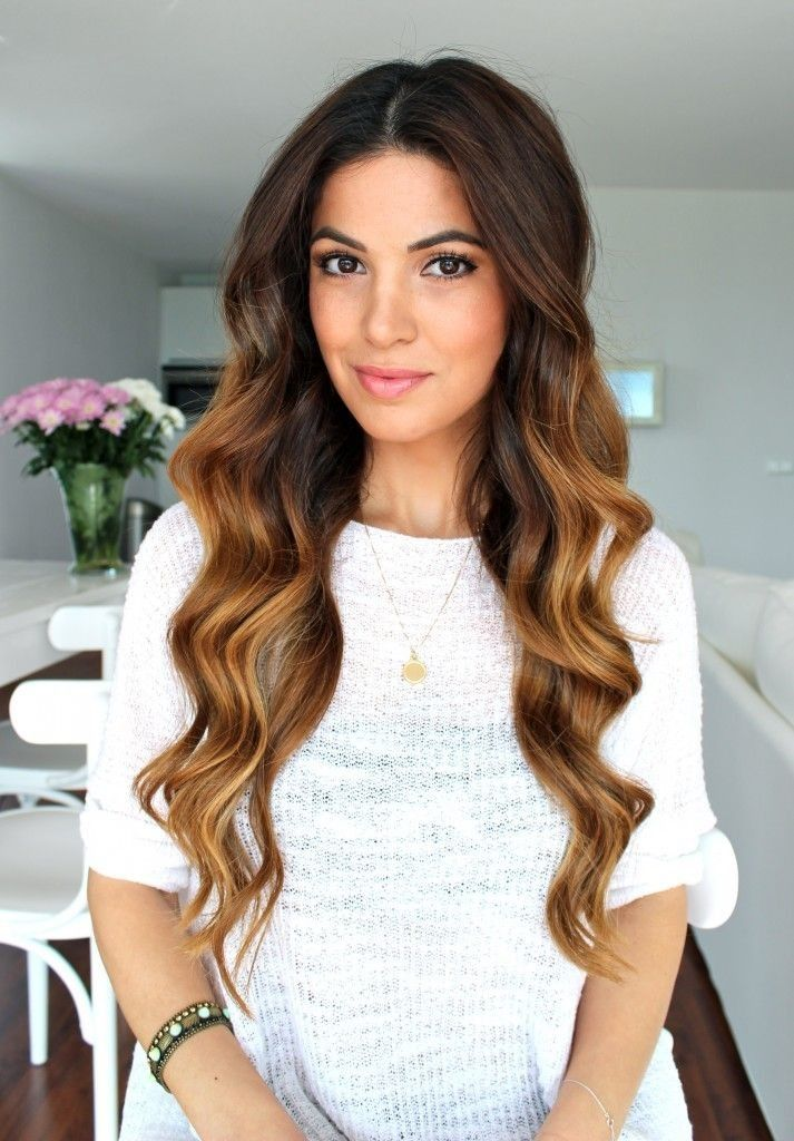 Diy Gold Ombre Highlights Dark Brown Hair Dye For Long Wave Hair