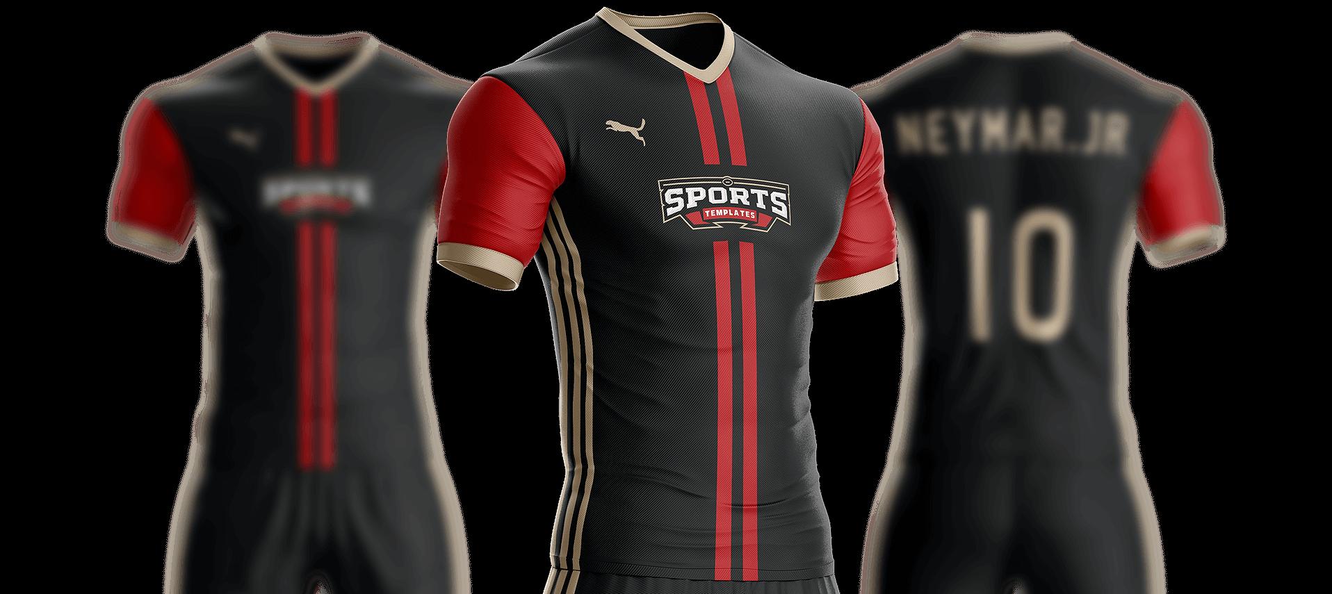Soccer football Uniform template