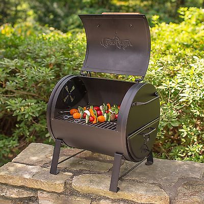Goes Here Charcoal Grill Table Top And Side Fire Box Portable Camping BBQ Outdoor  Garden Description