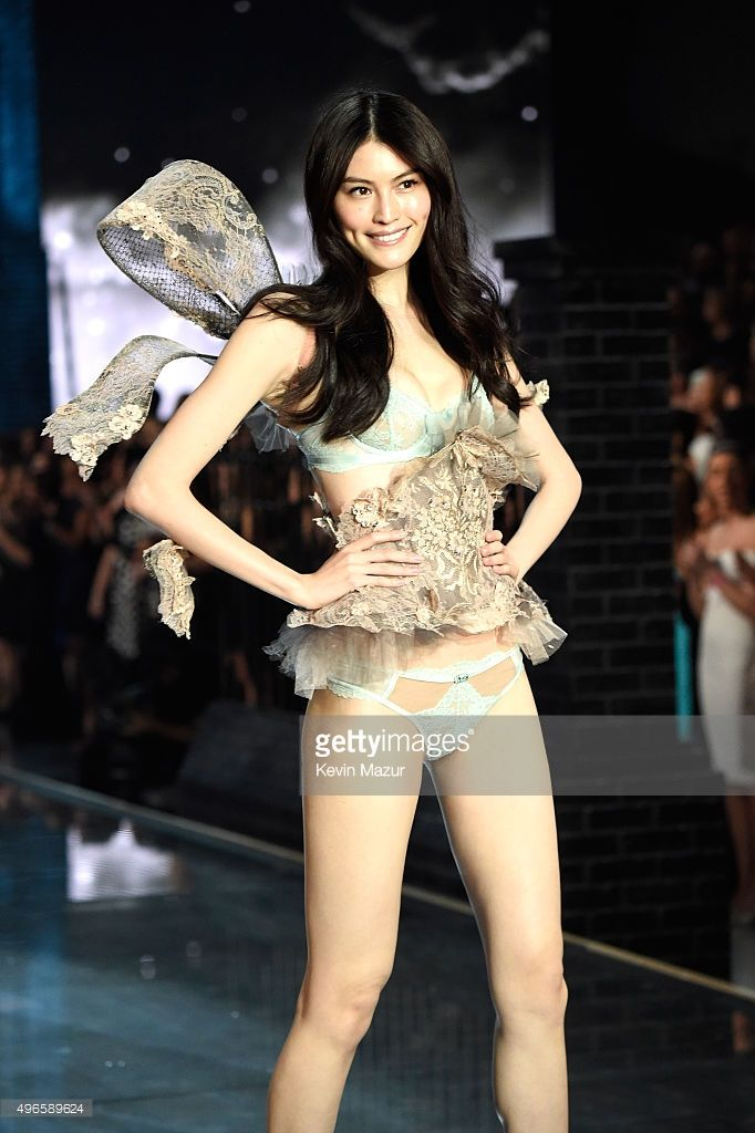7a33619ccf Model Sui He walks the runway during the 2015 Victoria s Secret Fashion  Show at Lexington Armory on November 10