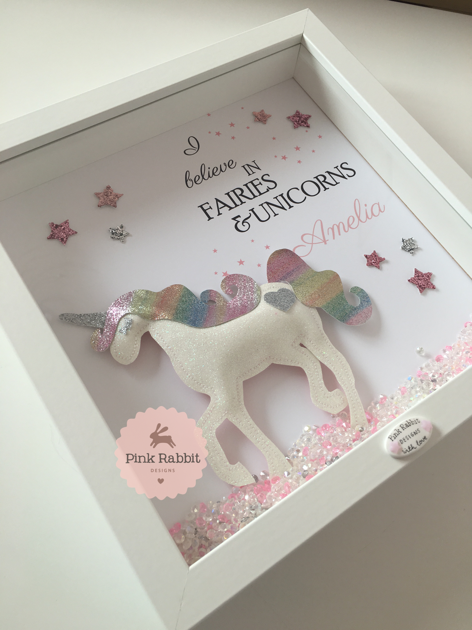 I Believe in Fairies & Unicorns Glitter Unicorn | Luna Mia ...