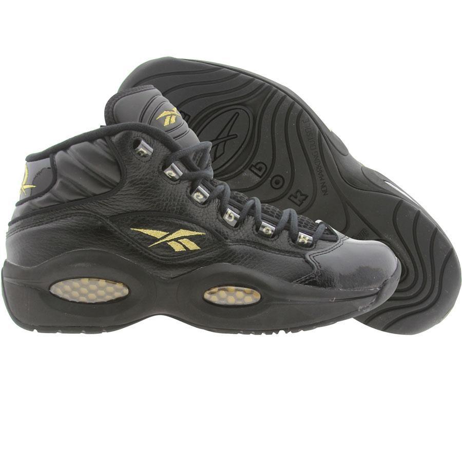 Reebok Question Mid Black Gold V48294 - 124.99 Men Shoes Everyday