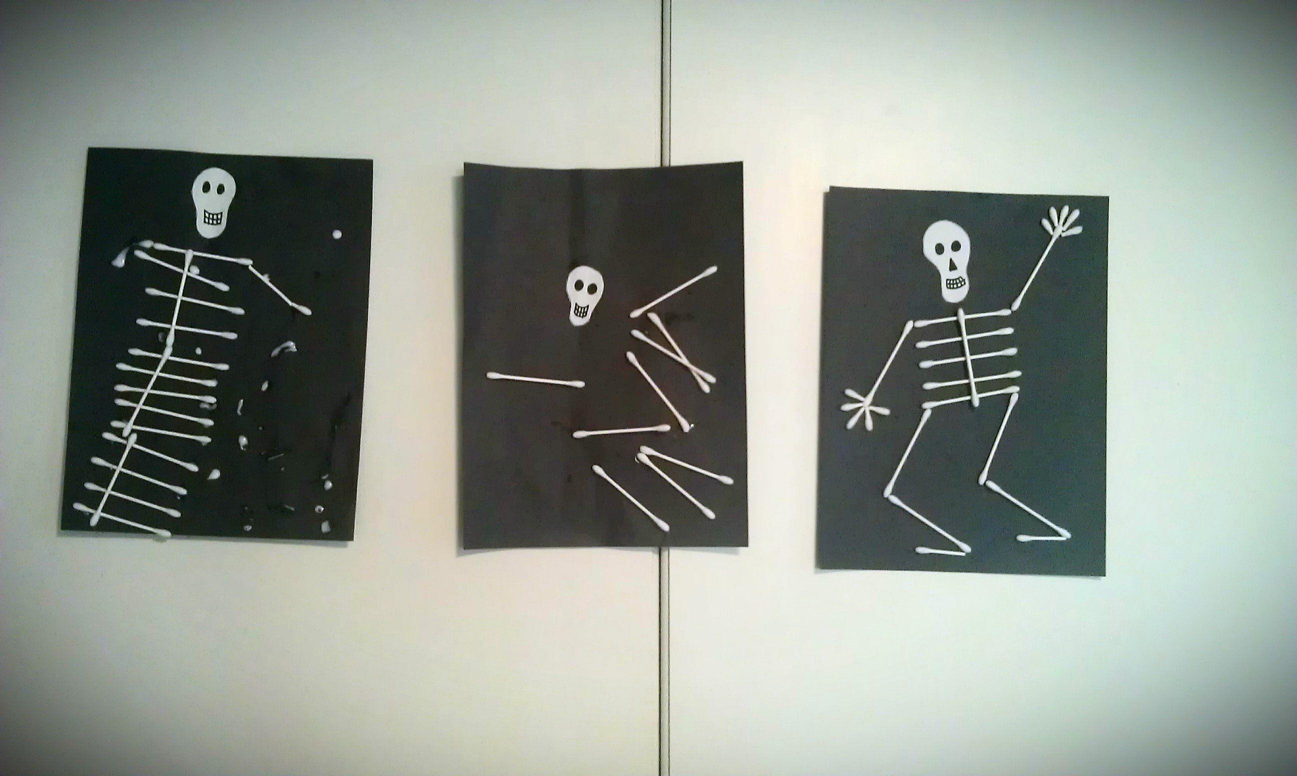 spooky skeleton craft for kids to make at halloween   idéias