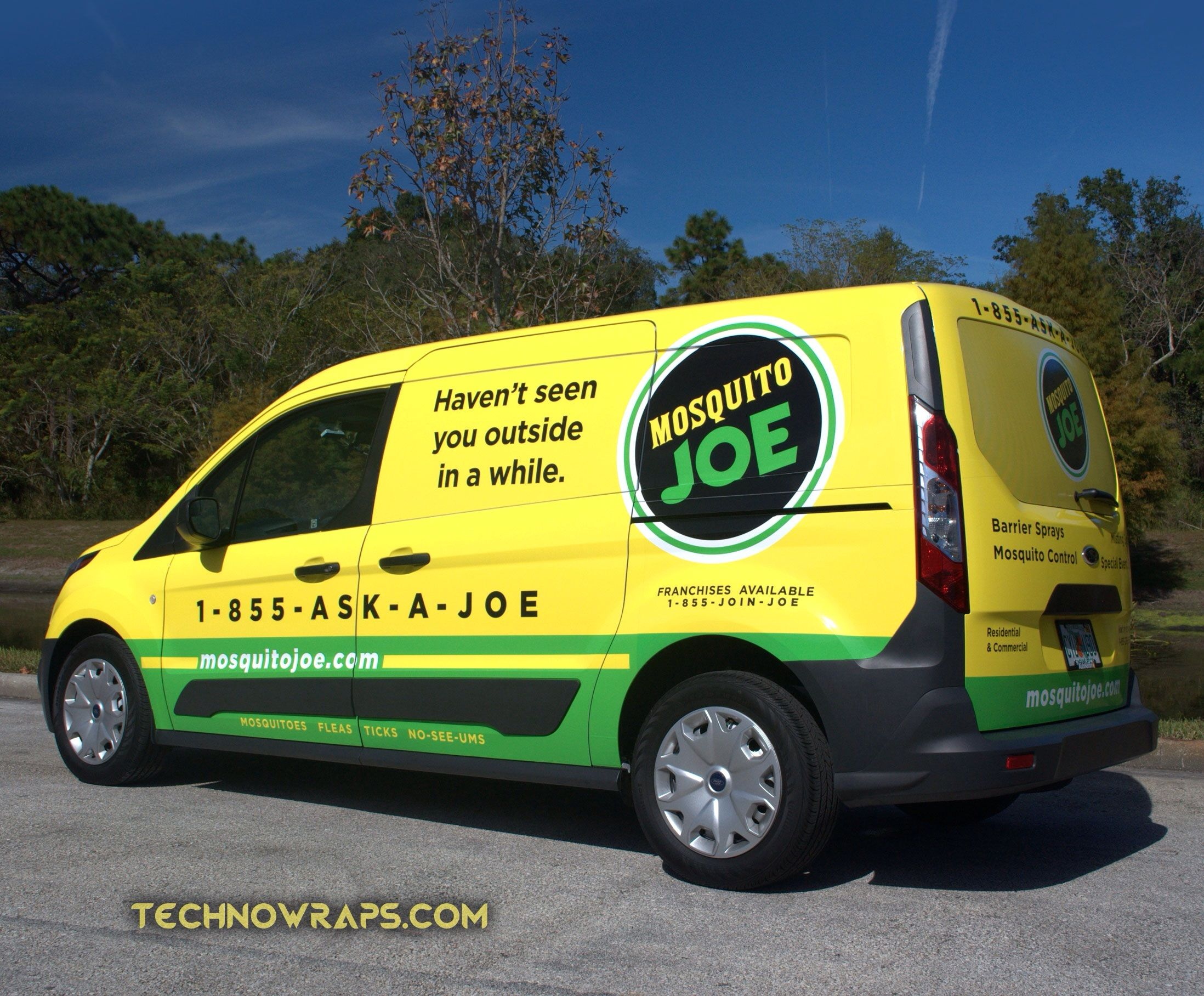 Ford Transit Connect Vinyl Truck Wrap For Mosquito Joe S Installed By Technosigns In Orlando Florida Car Wrap Ford Transit Trucks