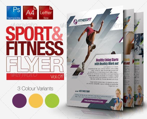 This clean and simple template perfectly used for fitness related - fitness brochure