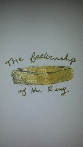 'The fellowship of the ring' this is a drawing I did today as I was watching the Lord of the rings