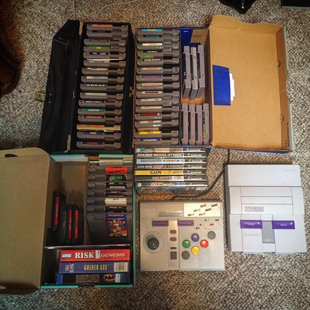 On instagram by jamiegrandrimo #segagenesis #microhobbit (o) http://ift.tt/1Rm8r5t Retro game collection just keeps growing! #RetroGames #SNES #NES #GameCube #SegaGenesis #Retron5