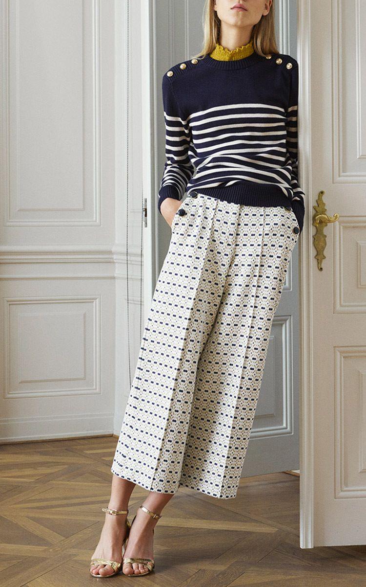 Jacoba Cropped Wide Leg Pants by BAUM UND PFERDGARTEN for Preorder on Moda Operandi