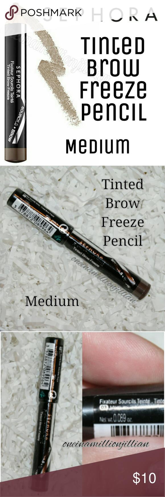 Sephora Eyebrow Tint : sephora, eyebrow, Sephora, Tinted, Freeze, Pencil, Medium, Sephora,, Brows,, Makeup