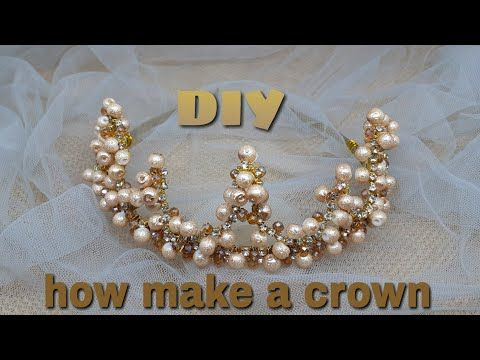 DIY / Tutorial How to make a crown | tiara headband / cara membuat mahkota