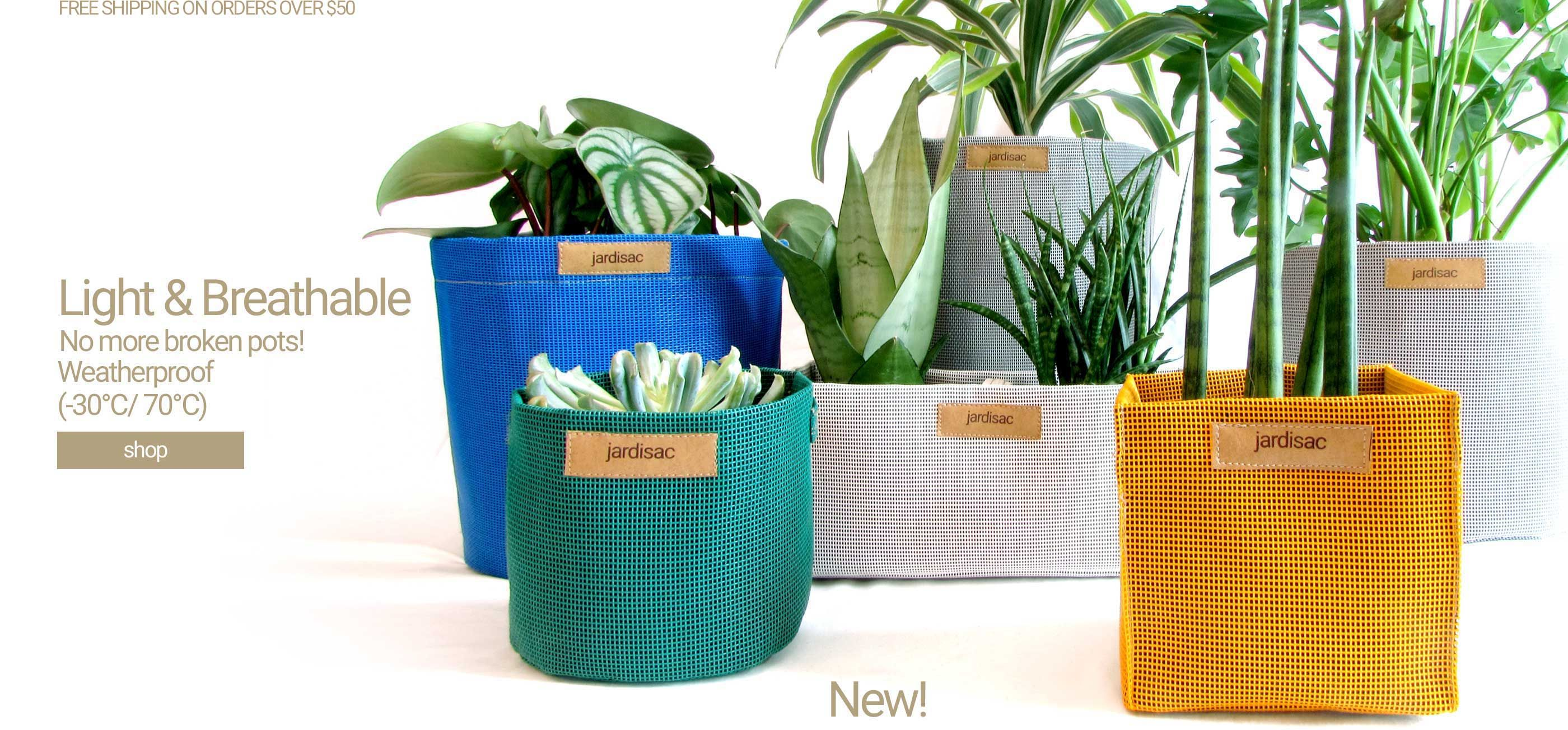 Plant Pots Outdoor Planters In Geotextile To Grow Flowers In