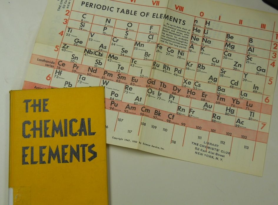 The Chemical Elements (1952) by Helen Miles Davis #periodictable - new periodic table sodium abbreviation