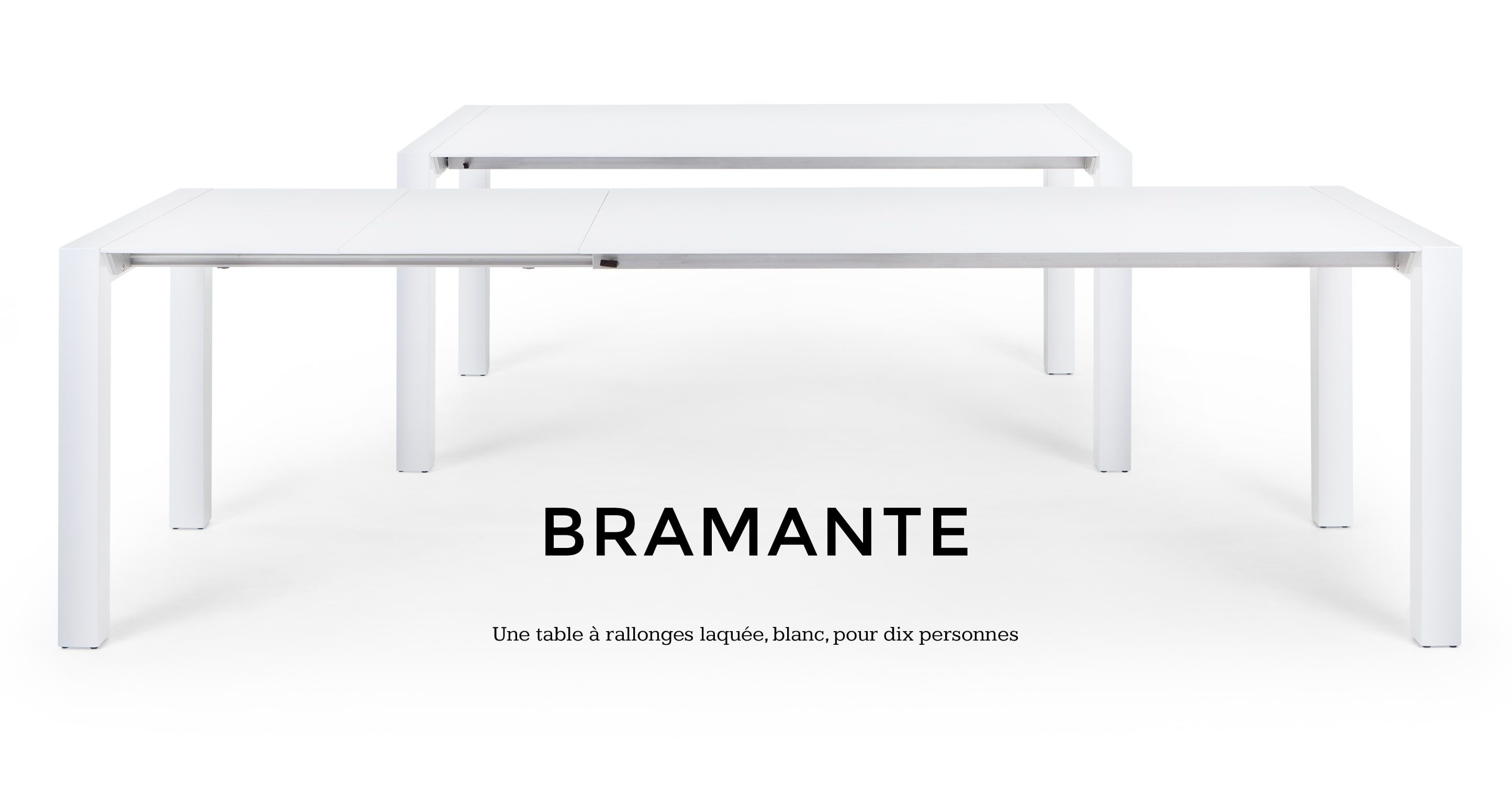 Bramante Table A Rallonges Rectangulaire Blanc Table A Rallonge Table Salle A Manger Table A Manger Extensible