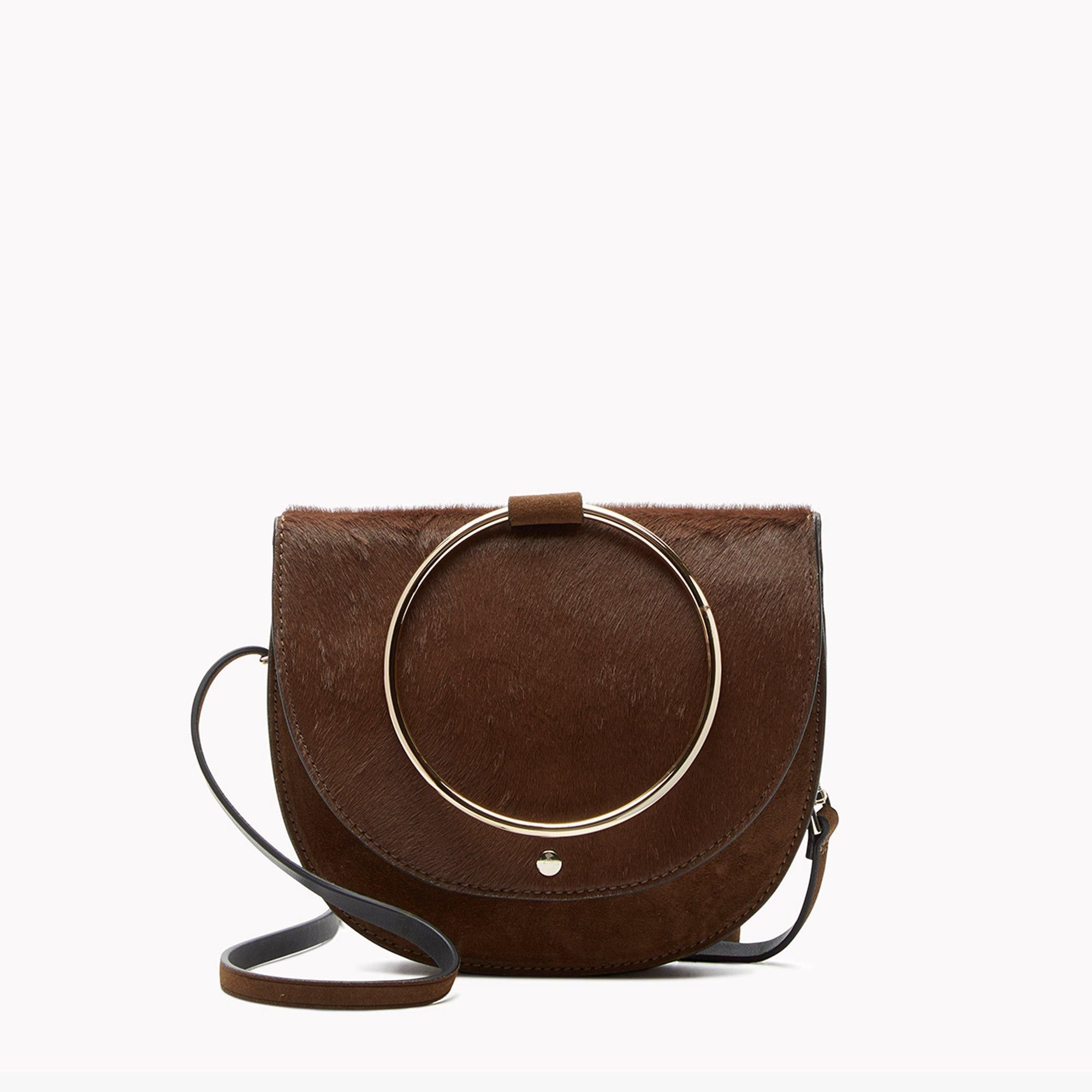 4e11af6b74e THEORY Whitney Hoop Bag In Calf Hair - Carob. #theory #bags #shoulder bags  #hand bags #fur #lining #
