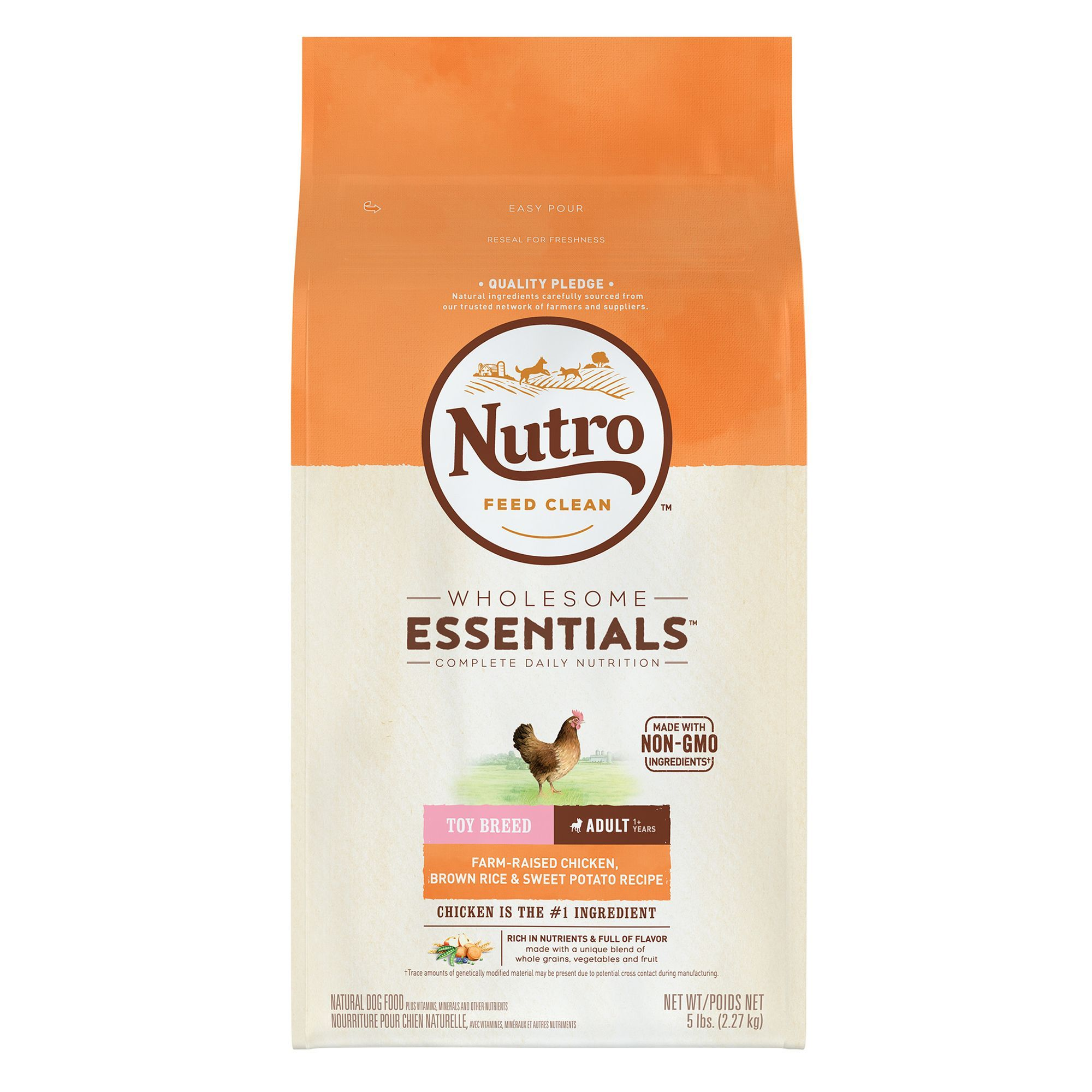 Nutro Wholesome Essentials Toy Breed Adult Dog Food Natural