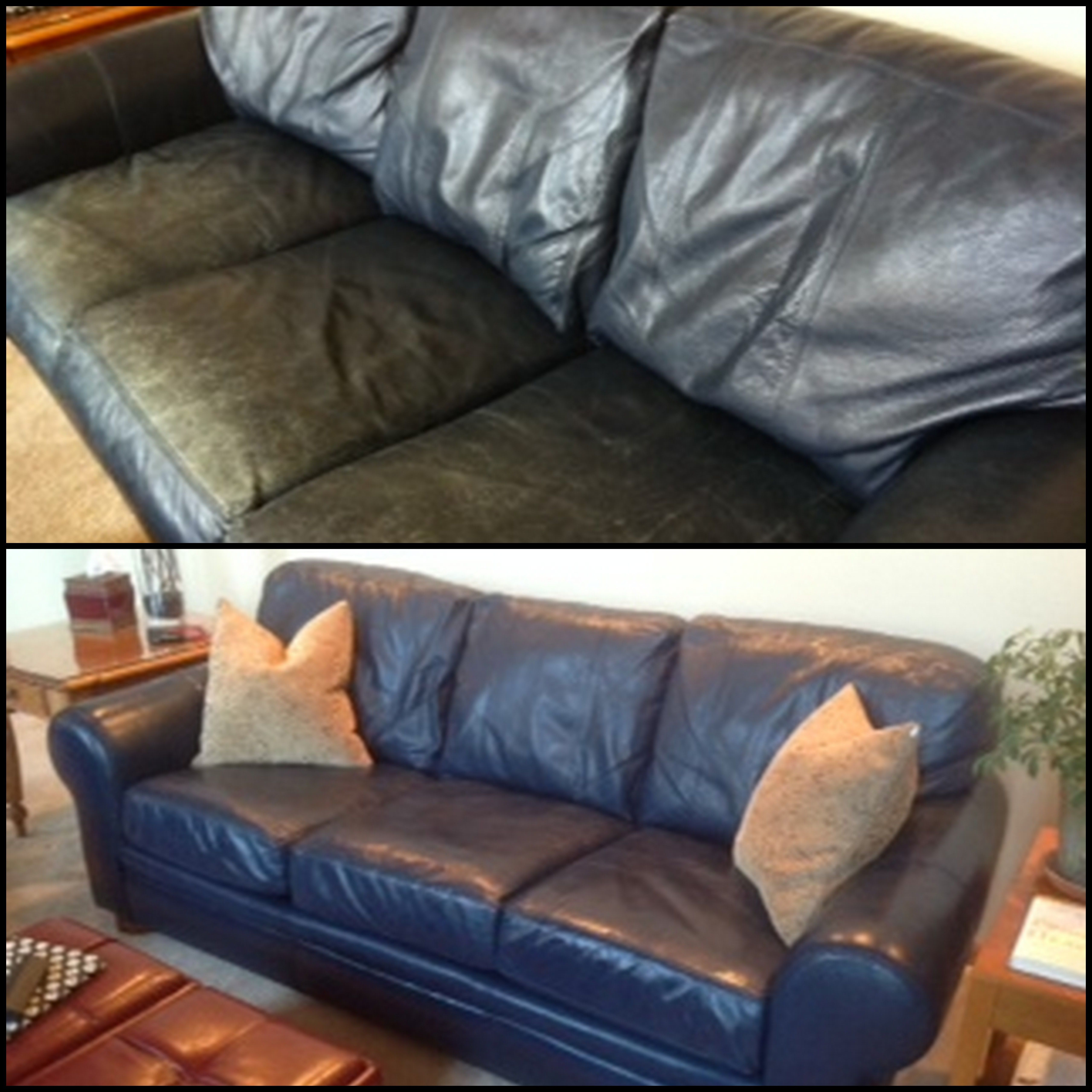 Stephen Used Midnight Blue Blue Leather Couch Leather Couch Navy Blue Leather Couch