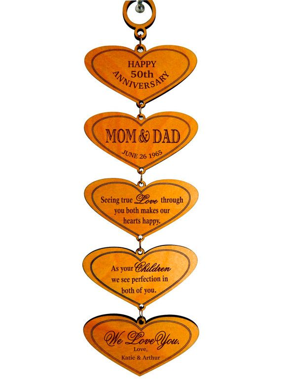 50th anniversary gift for parents gift for mom and dad on their anniversary gift