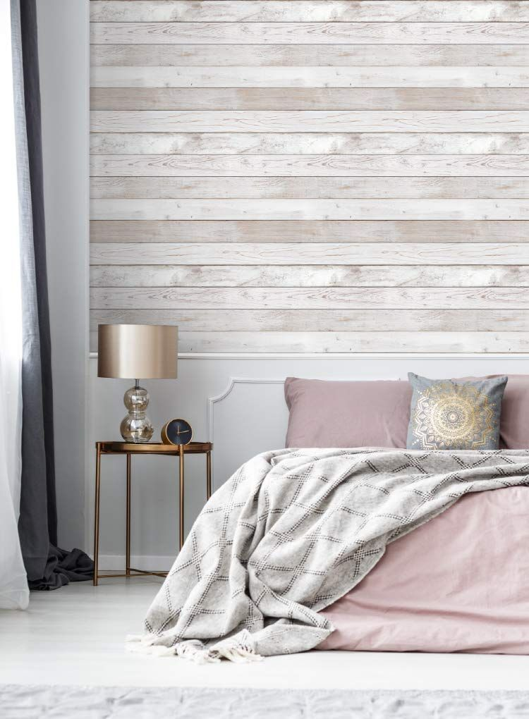 Reclaimed Wood Distressed Wood Panel Wood Grain Self Adhesive Peel Stick Wallpaper Vbs308 2 78inch Amazon How To Distress Wood Wood Paneling Home Decor